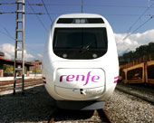 front view of a RENFE high-speed train